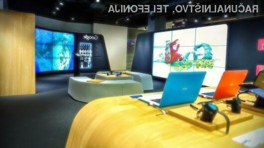 Uporabniki imajo v Googlovi prodajalni možnost preizkušanja mobilnikov Android, prenonsikov Chromebook in večpredstavnostnih naprav Chromecast.