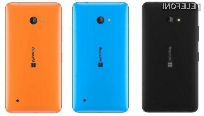 Novi mobilnik družine Lumia naj bi ponujal odlično razmerje med ceno in zmogljivostjo.