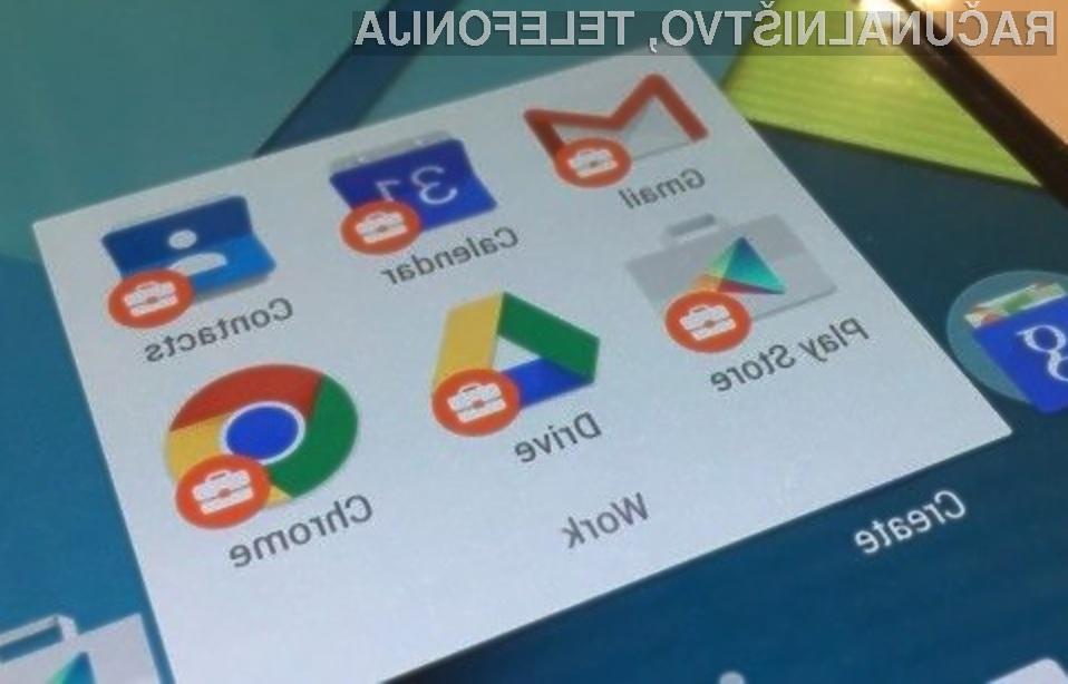 Poslovni Android naj bi precej olajšal uporabo zasebnega in poslovnega profila na mobilni napravi!