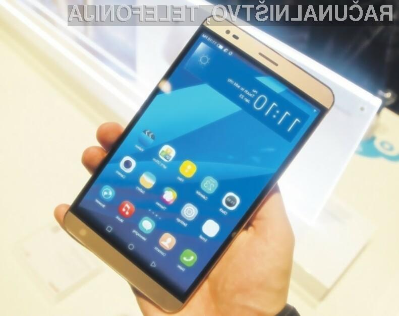 Huawei MediaPad X2 lahko zlahka prevzame vlogo tabličnega računalnika.