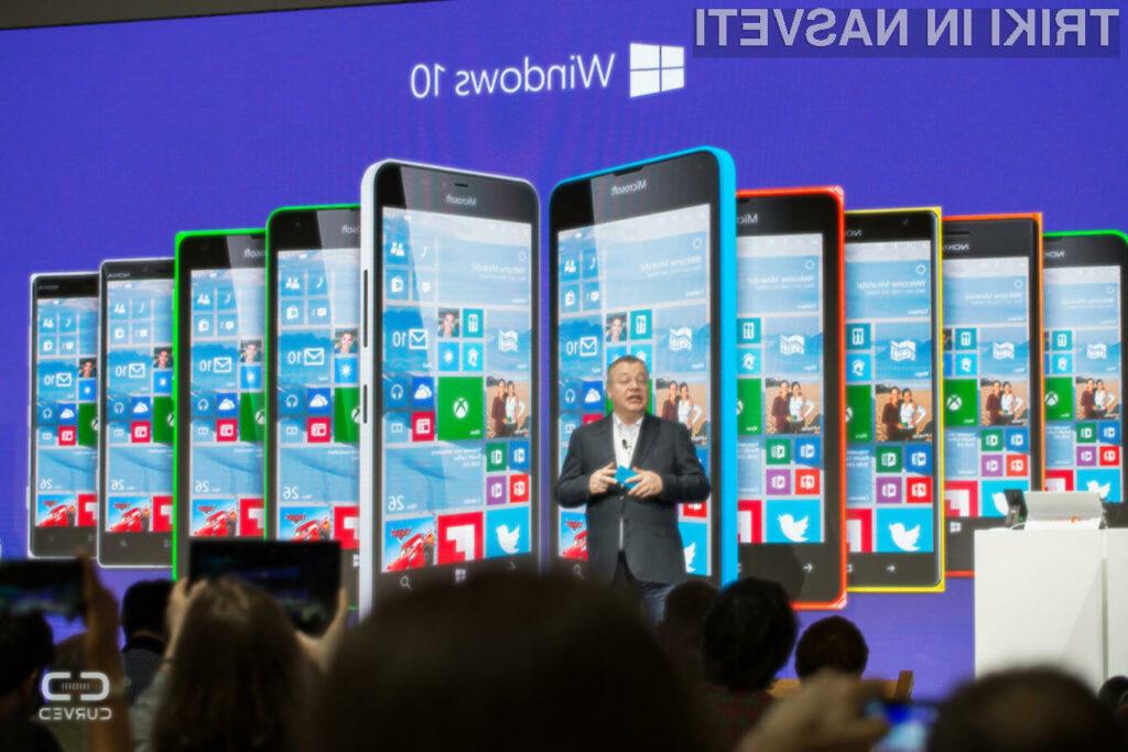 Windows 10 bo mogoče namestiti na bogato paleto mobilnikov Lumia!