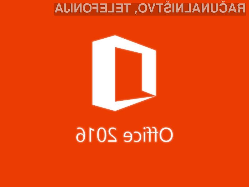 Office 2016 za podjetja že na voljo