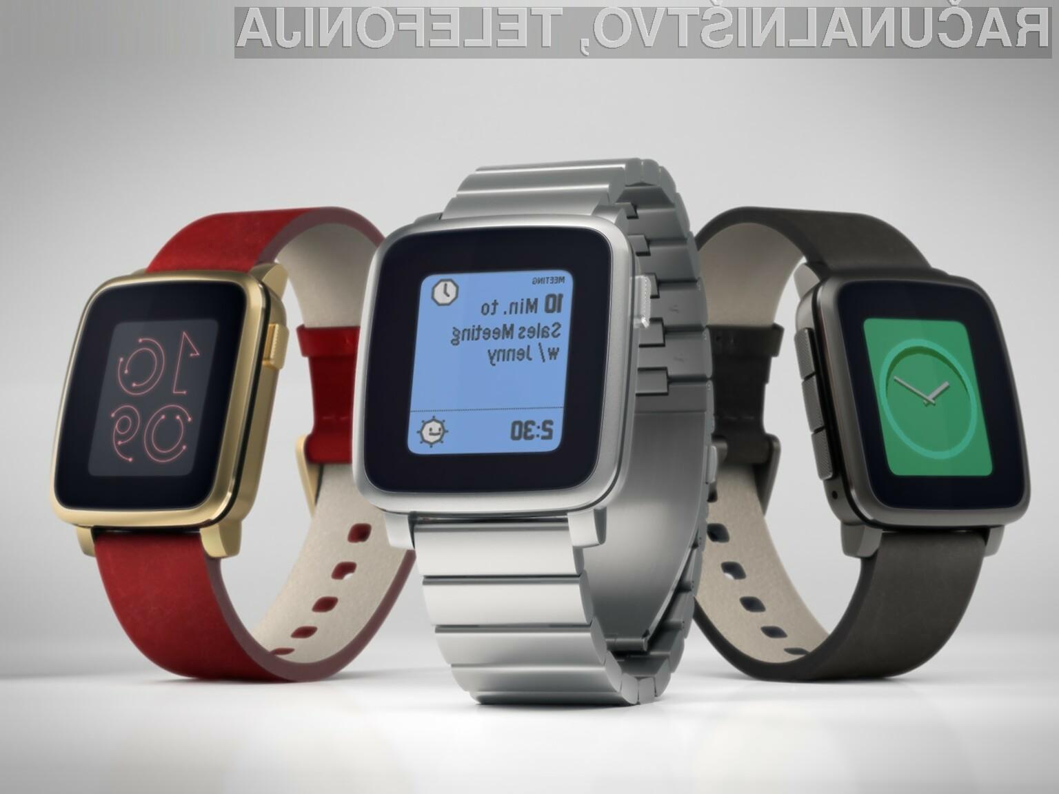 Pametna ročna ura Pebble Time je takoj prepričala uporabnike spletnega portala Kickstarter.