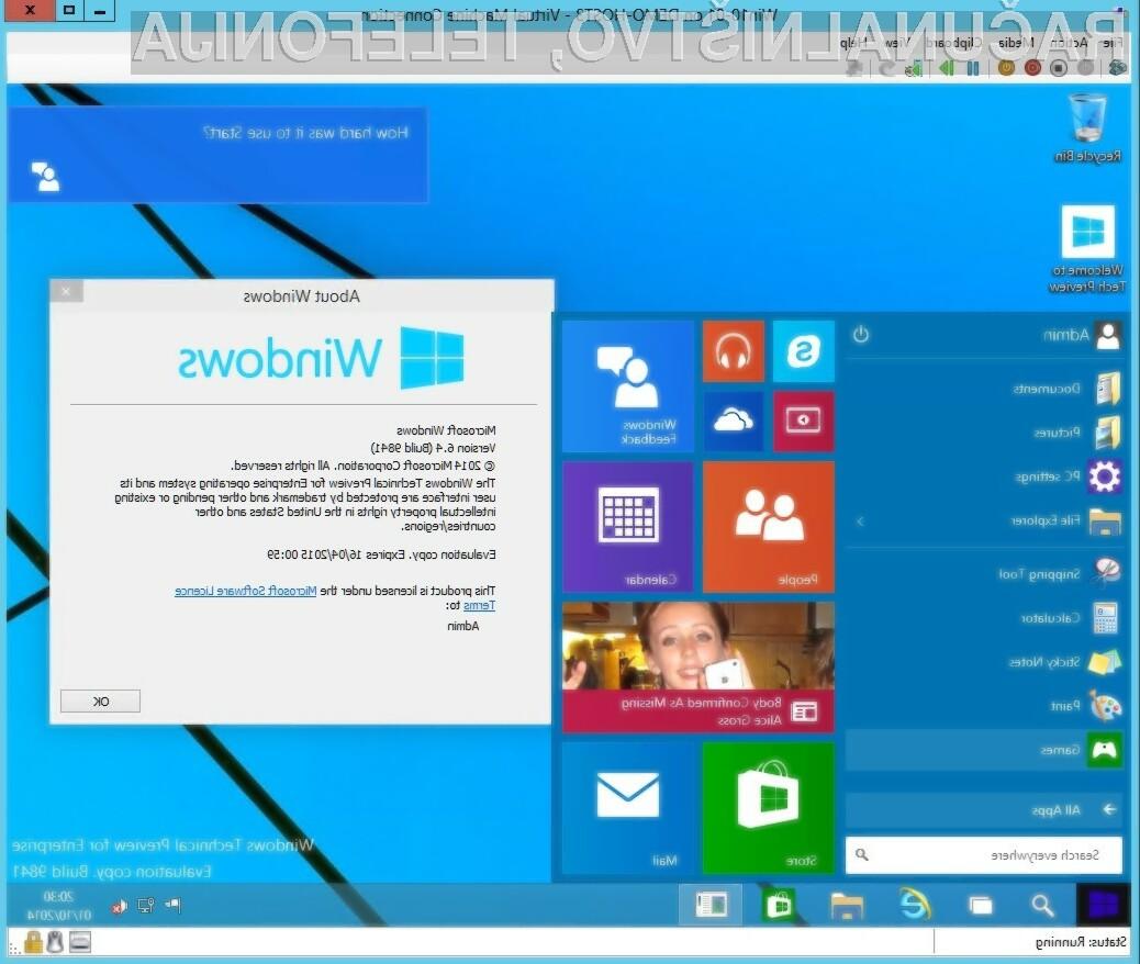 Končno različico operacijskega sistema Windows 10 naj bi dočakali že to poletje!