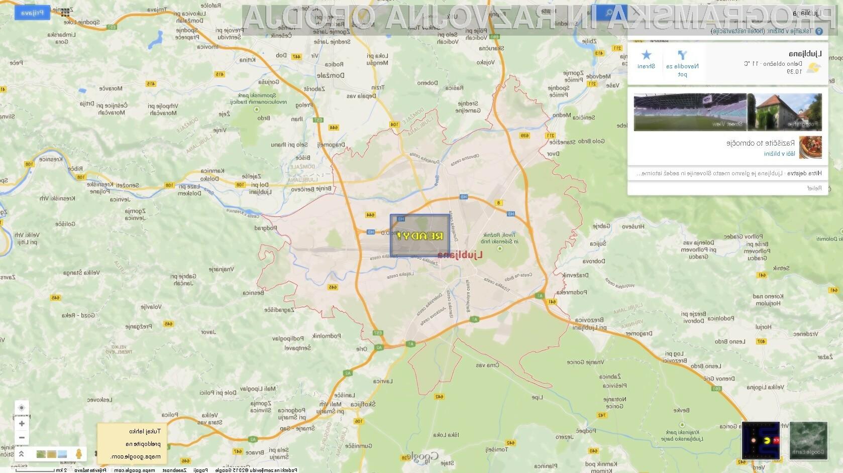 Legendarna igra sedaj tudi v Google Mapsih