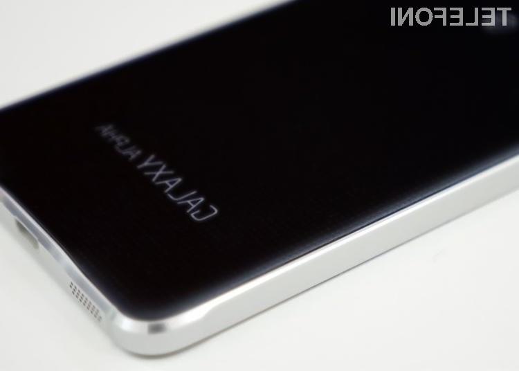 Slovenski uporabniki mobilnika Samsung Galaxy Alpha bodo posodobitev Androida prejeli še pred poletjem.