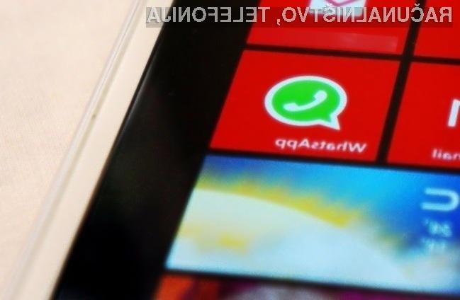 WhatsApp z možnostjo brezplačnih pogovorov kmalu še za Windows Phone