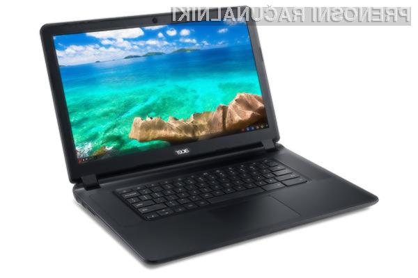 Acer Chromebook 15 nas vsaj zlahka ne bo pustil na cedilu!
