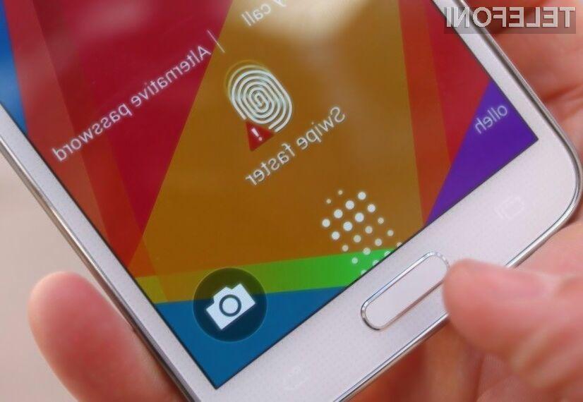 Pozor na ranljiv bralnik prstnih odtisov mobilnika Samsung Galaxy S5!
