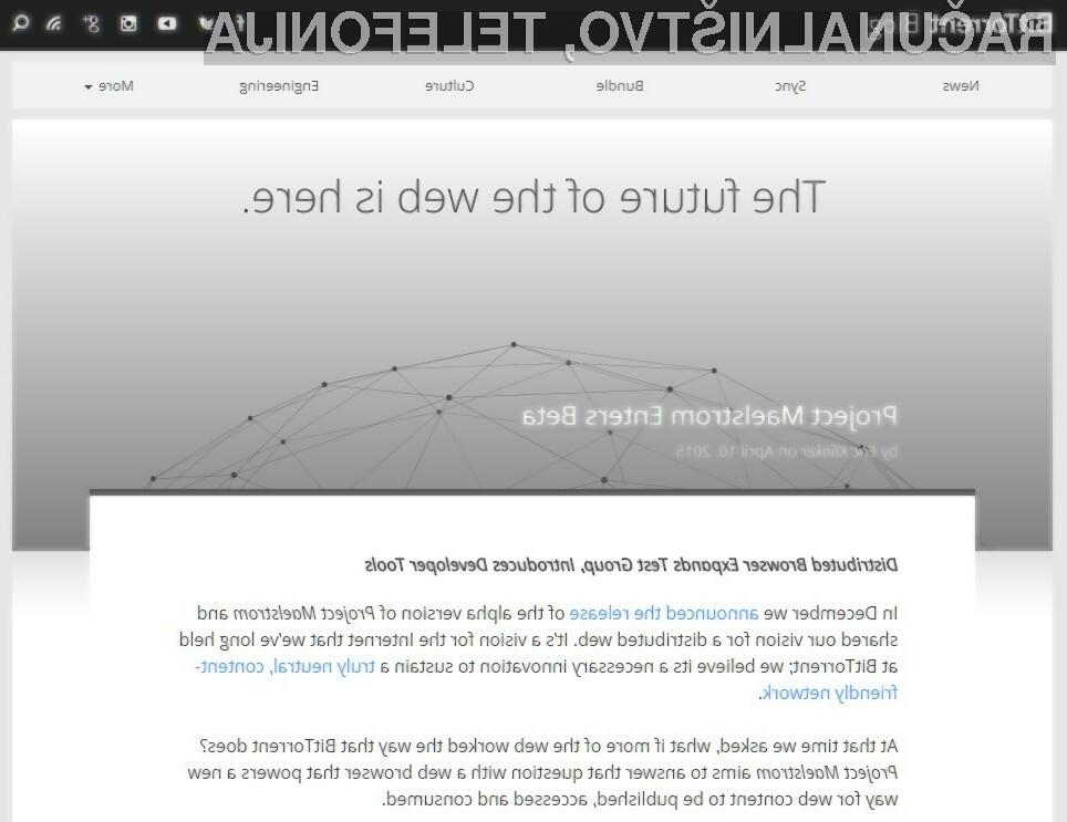 Spletni odjemalnik BitTorrent Maelstrom naj bi varoval našo zasebnost pred protipiratskimi organizacijami.