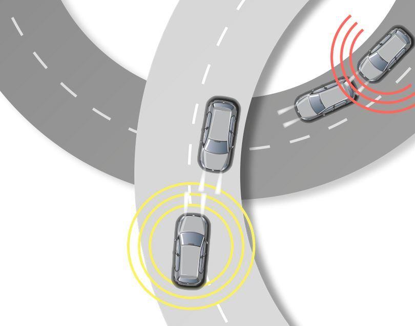 nüviCam vas opozori, če se vozite preblizu za vozilom, ki je pred vami ali če ste zapeljali mimo označb na cestišču in drsite izven ceste oziroma nasproti prihajajočemu prometu.