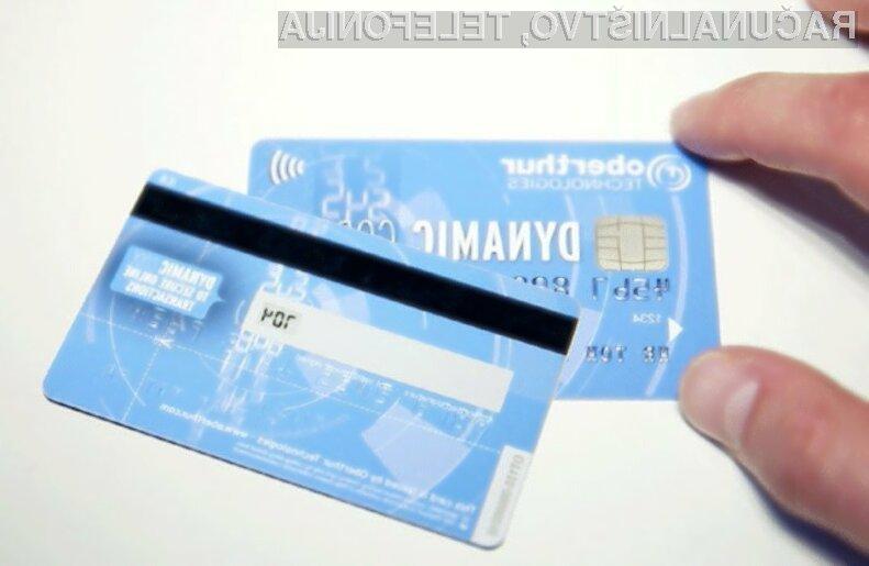 Plačilna kartica Oberthur Technologies naj bi močno omejila zlorabo ukradenih kreditnih kartic na svetovnem spletu.
