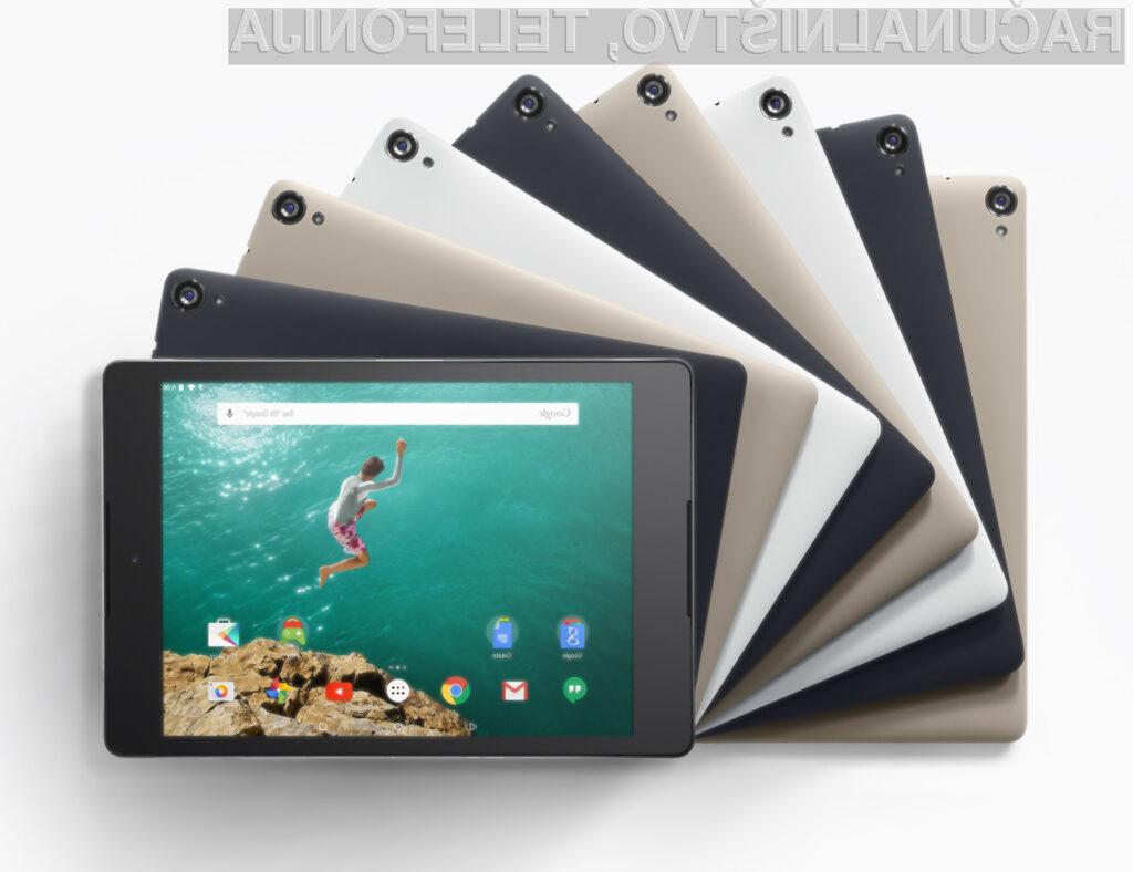 Upokojitev tablice Nexus 7 naj bi povečala prodajo tabličnega računalnika Nexus 9.