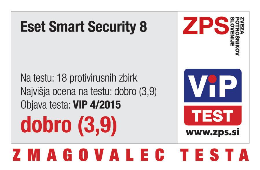 ESET Smart Security 8 je zmagovalec