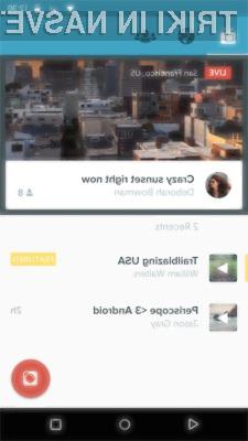 Videoprenosi v živo tudi za Android