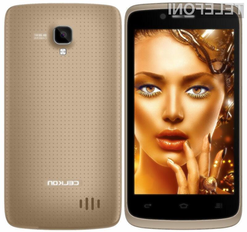 Pametni mobilni telefon Celkon Campus Q405 kljub nizki ceni ponuja veliko.