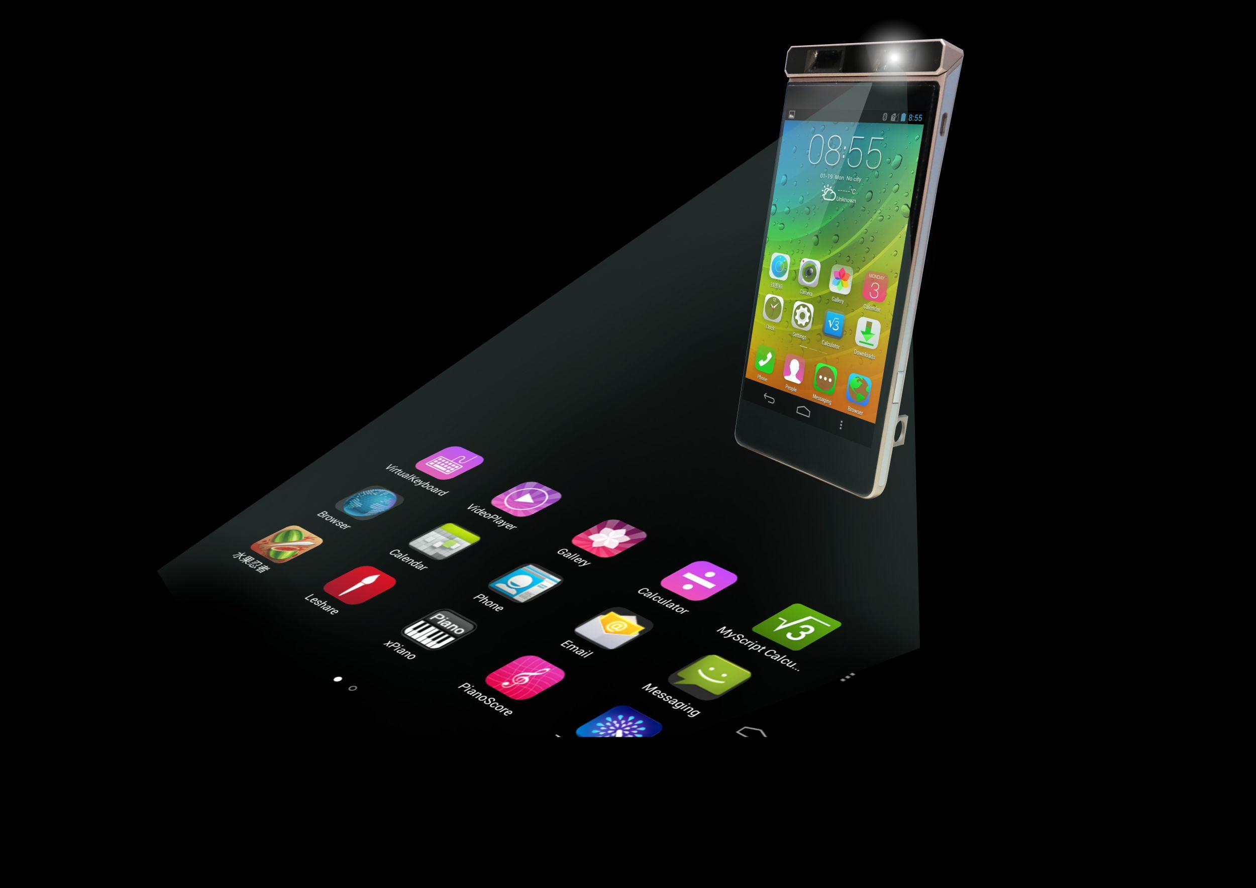 Lenovo koncept telefona s projekcijo