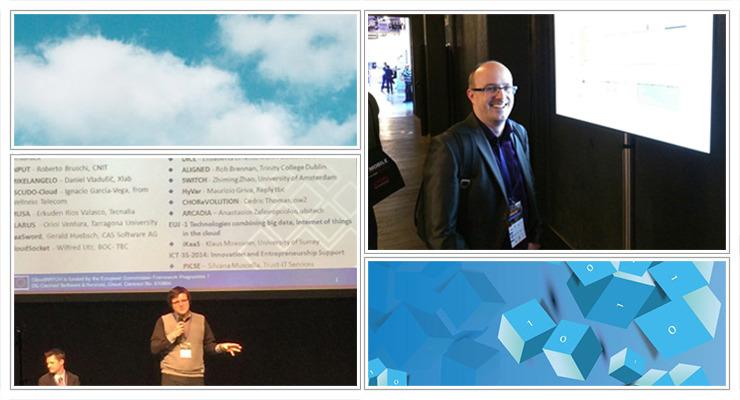 Koordinator projekta, dr. Daniel Vladušič, in tehnični koordinator Gregor Berginc sta predstavljala projekt MIKELANGELO na konferenci NetFutures 2015 v Bruslju.