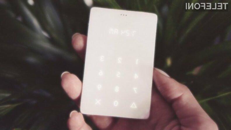 Z mobilnim telefonom Light Phone lahko opravljamo le telefonske klice!