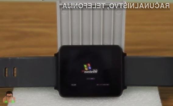 Operacijski sistem Windows XP se odlično prilega pametni ročni uri LG G Watch.