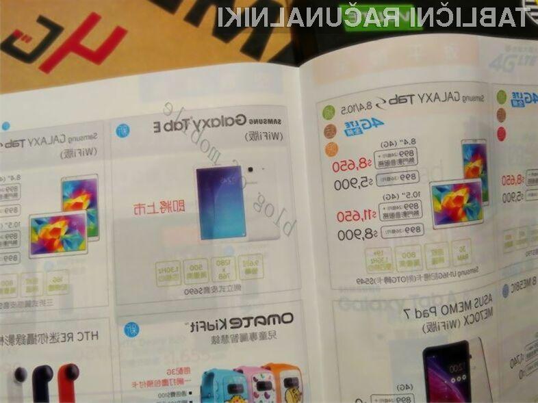 Tablični računalnik Samsung Galaxy Tab E bo luč sveta ugledal še pred koncem poletja!