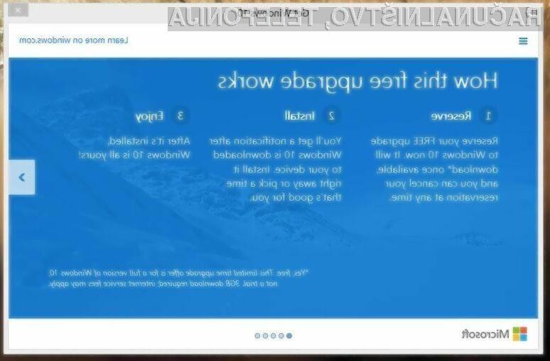 Uporabniki licenčnih Windowsov bodo prejeli povezavo za prenos Oken 10 takoj, ko bodo na voljo!
