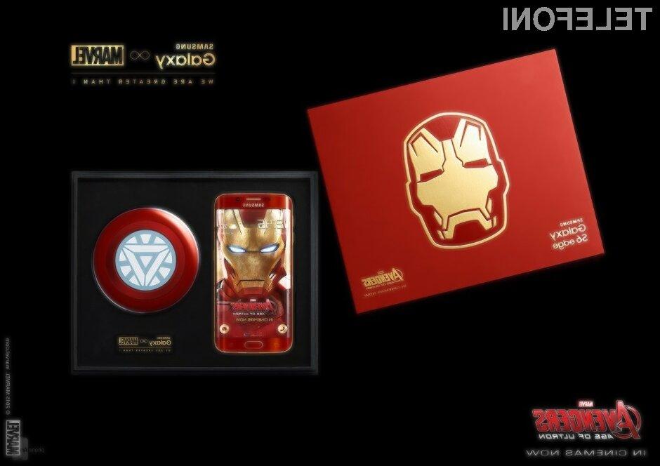Samsung Galaxy S6 Edge Iron Man Limited Edition je izjemno cenjen med zbiratelji naprav sodobne elektronike!