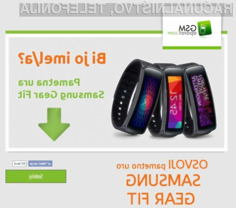 Podarjamo TOP pametno uro - Samsung Gear Fit!