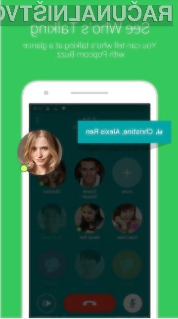 . Mobilna aplikacija Popcorn Buzz dejansko omogoča sočasno klicanje do 200 uporabnikov!