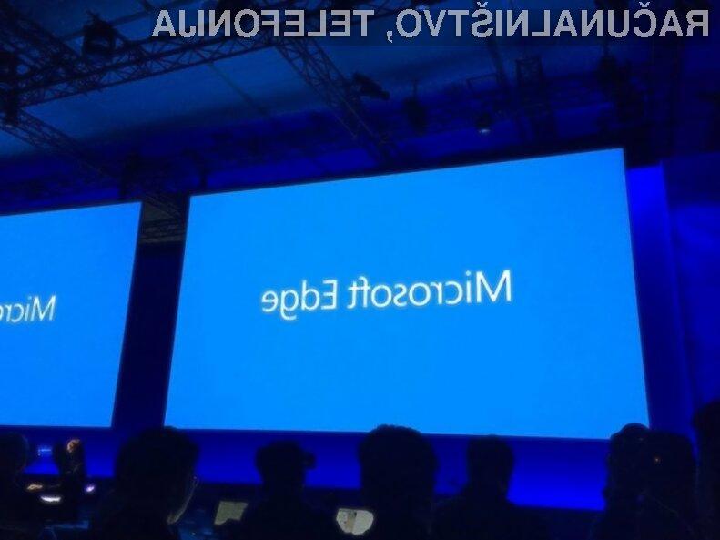 Spletni brskalnik Microsoft Edge uradno v operacijskem sistemu Windows 10!