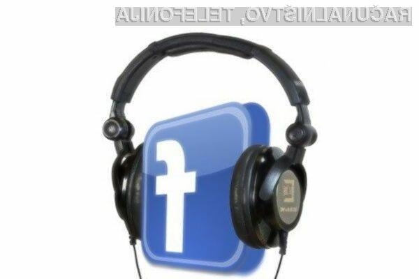 Facebook za lastno pretočno glasbo?
