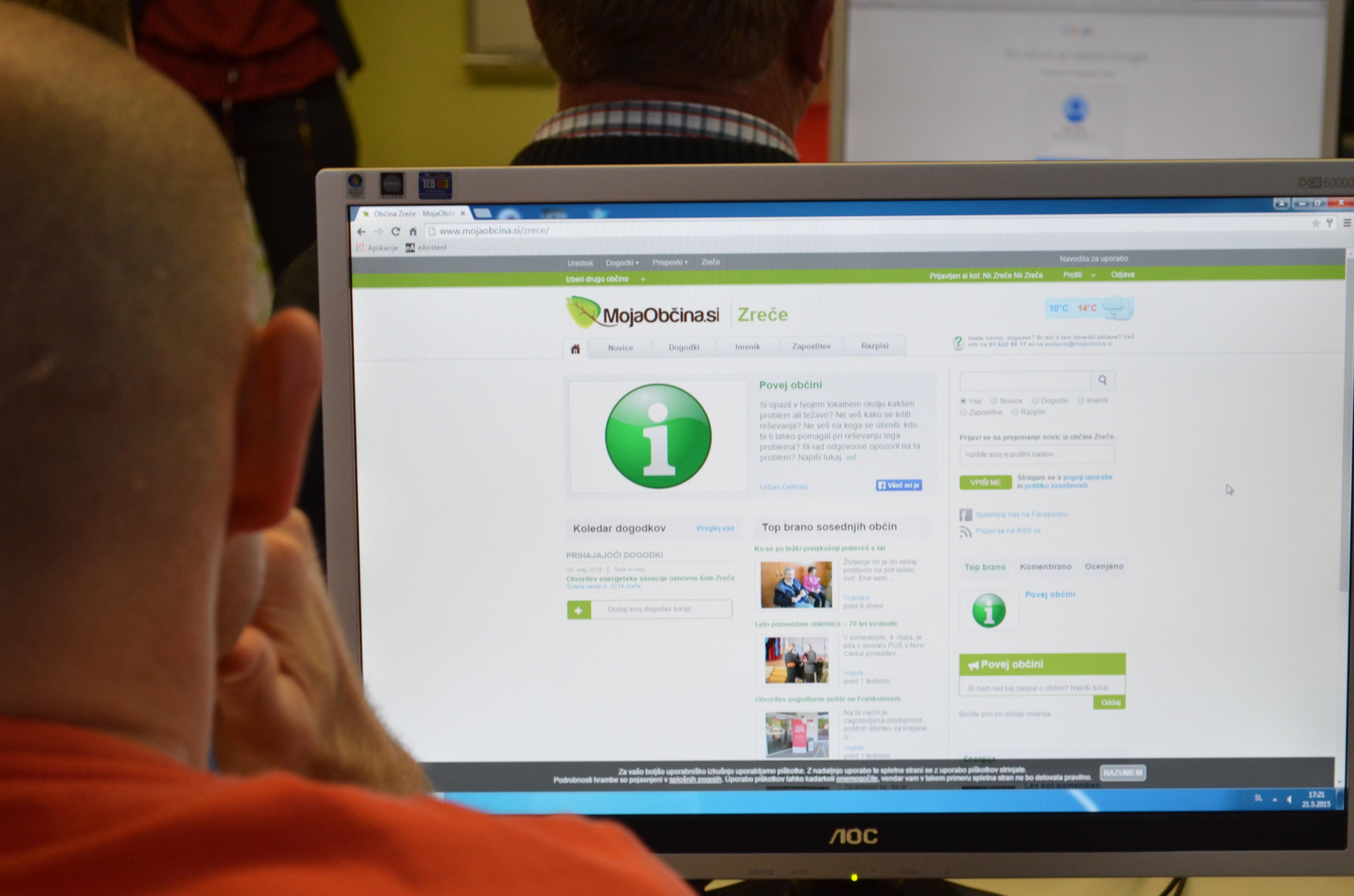 Delavnica glede uporabe portala Mojaobcina.si za društva - Zreče.