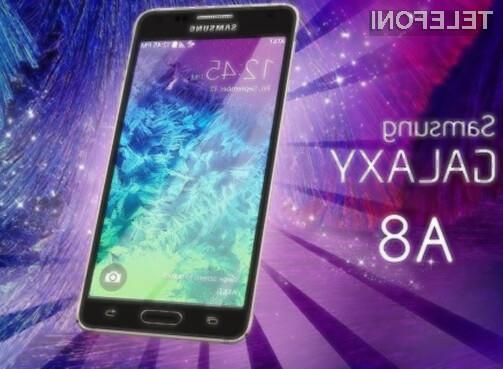 Samsung vse upe polaga v Galaxy A8!