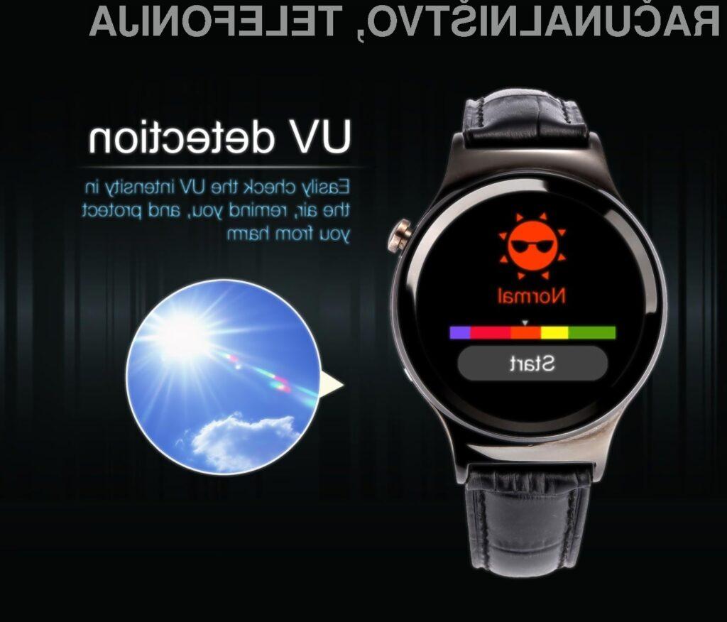 Pametna ročna ura No.1 Watch nas bo opozorila, ko bo izpostavljenost žarkom UV prevelika.