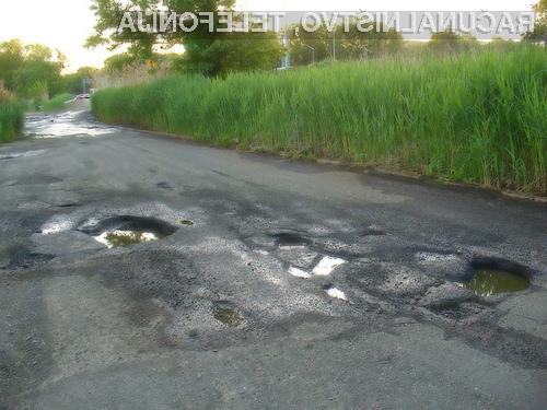 Googlov sistem za razkrivanje poškodovanih cest bo imel v Sloveniji precej dela.