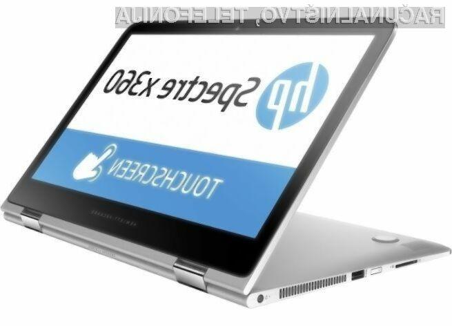 Kompaktni prenosnik HP Spectre X360 bo ponujal optimalno razmerje med zmogljivostjo in avtonomijo delovanja!