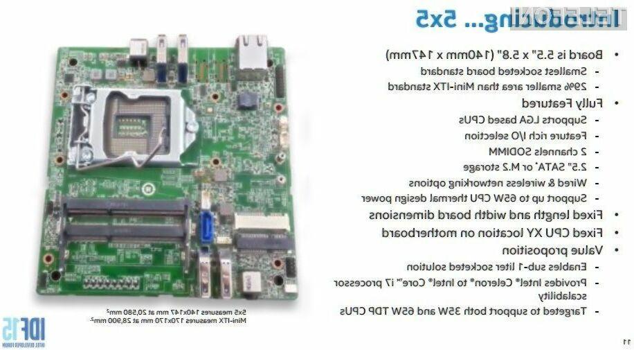 Intel presenetil z najboljšo osnovno ploščo