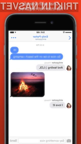 Z mobilno aplikacijo FireChat lahko pošiljamo sporočila, tudi ko interneta ali mobilnega omrežja ni na voljo.