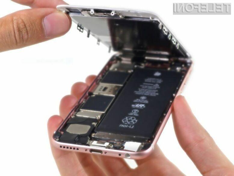 Pametni mobilni telefon Apple iPhone 6S je relativno enostavno popravljiv!
