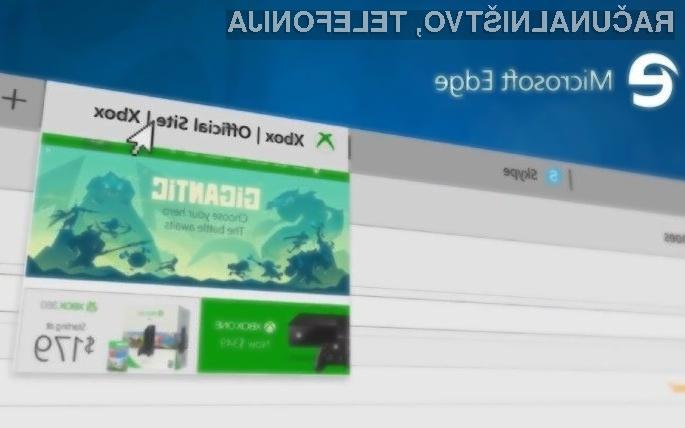 Spletni brskalnik Microsoft Edge za Xbox One bo omogočil hitrejše brskalnike in boljšo uporabniško izkušnjo.
