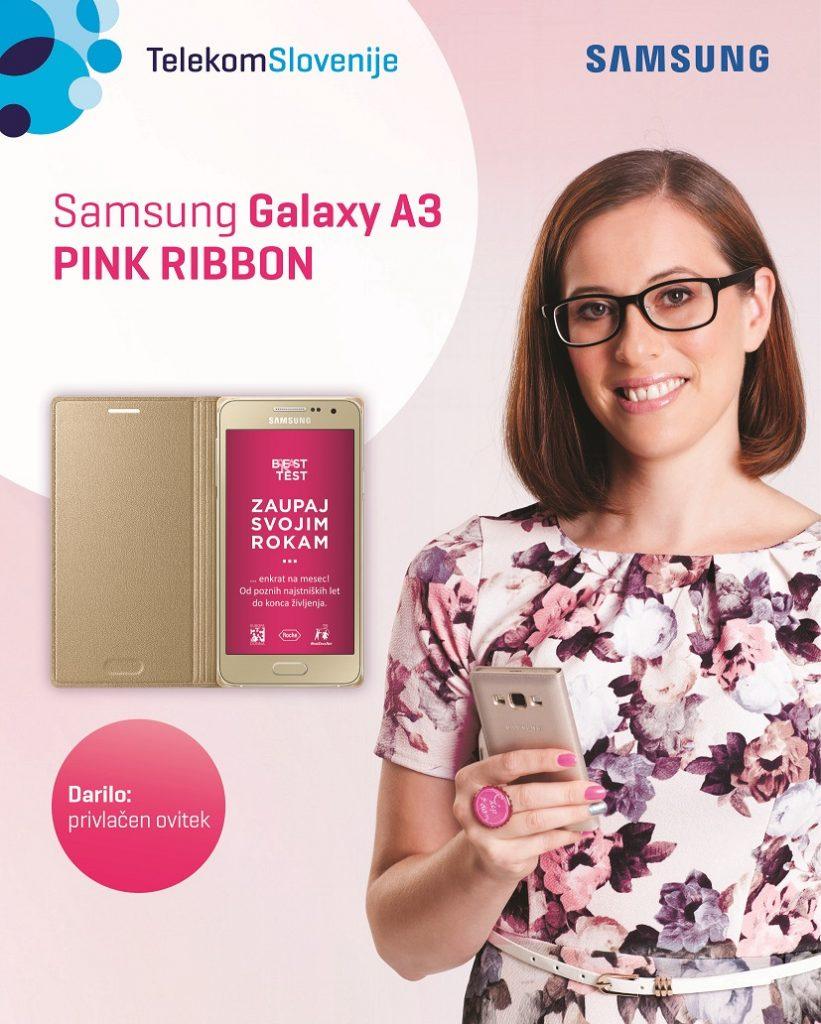 Telekom Slovenije in Samsung tudi letos ob nakupu mobitela z oznako Pink Ribbon 10 evrov namenjata združenju Europa Donna