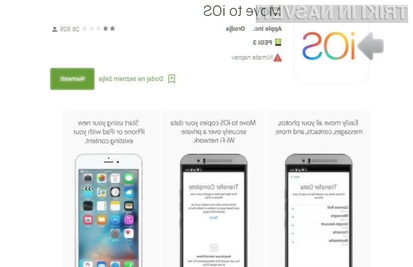 Prva aplikacija Apple pristala na portalu Google Play