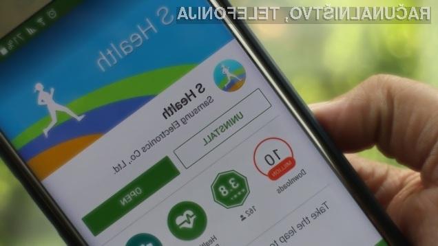 Aplikacijo Samsung S Health lahko odslej namestimo na bogato paleto mobilnikov Android.
