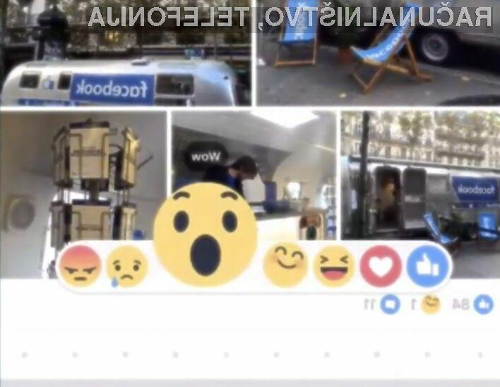 Uporaba različnih čustvenih simbolov naj bi olajšala izražanje čustev na družbenem omrežju Facebook.