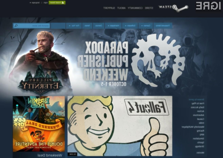 Igričarska oblačna platforma Steam je med uporabniki operacijskih sistemov Windows sila priljubljena!