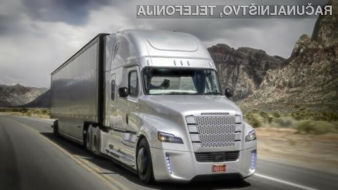 Prvi samovozeči tovornjak na svetu je preizkus na javnih cestah opravil z odliko.