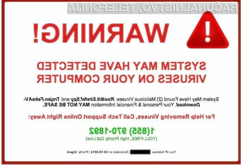 Prevare s telefonsko podporo so med spletnimi prevaranti vse bolj priljubljene!
