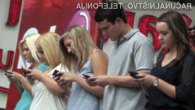 Otroci in mladostniki bi se morali izogibati prekomerne uporabe mobilnih naprav!