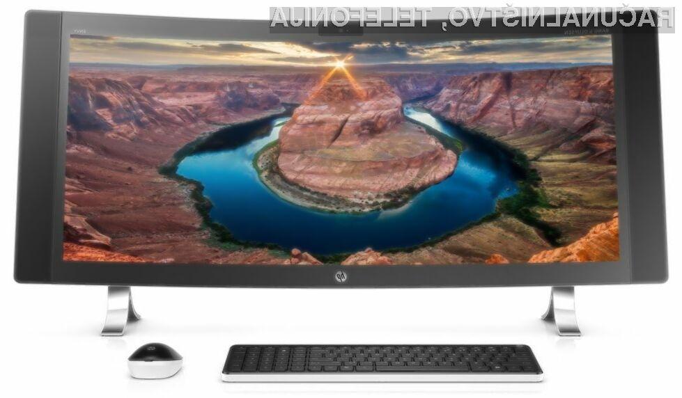 Računalnik vse-v-enem HP Envy Curved se bo zlahka prikupil ljubiteljem večpredstavnostnih vsebin in iger.