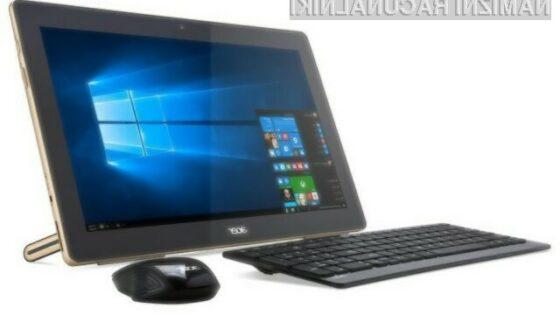 Namizni računalnik Acer Aspire Z3-700 lahko brez napajanja uporabljamo do pet ur.